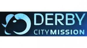 Derby City Mission logo, featuring a ram's head.