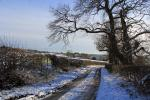 Image: Winter view from Inn Lane towards the Kedleston Hotel