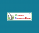 Image: Small Quarndon Community Group logo on teal background
